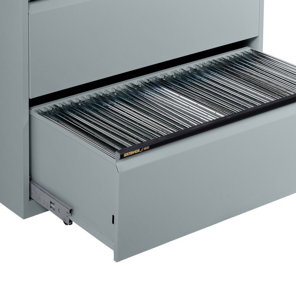Lateral Filing Cabinet - Side to Side Filing - Light Grey