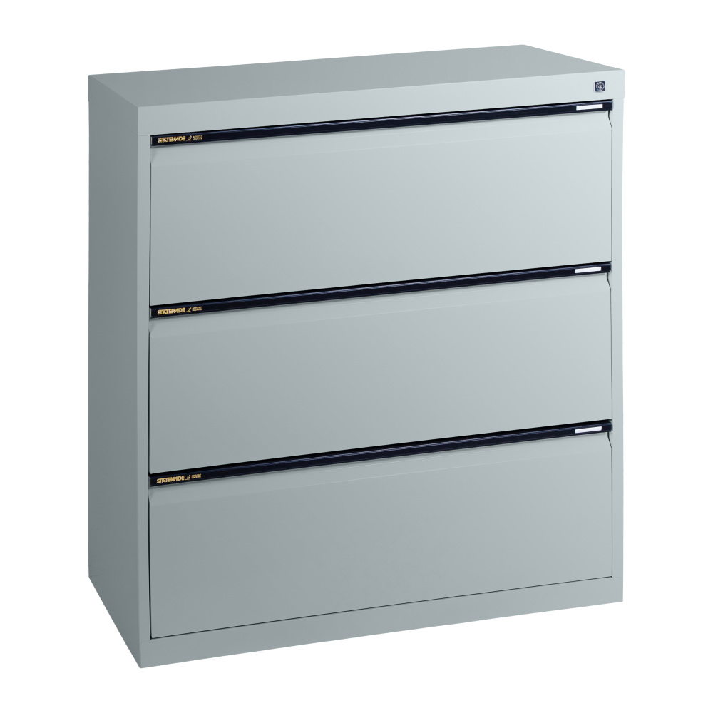 SLA3   Statewide 3 Drawer Lateral Filing Cabinet   Light Grey