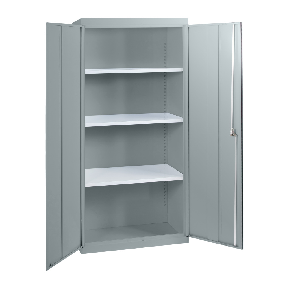 SWC6 - Statewide 1850H Deluxe Stationery Cupboard - Open - Light Grey
