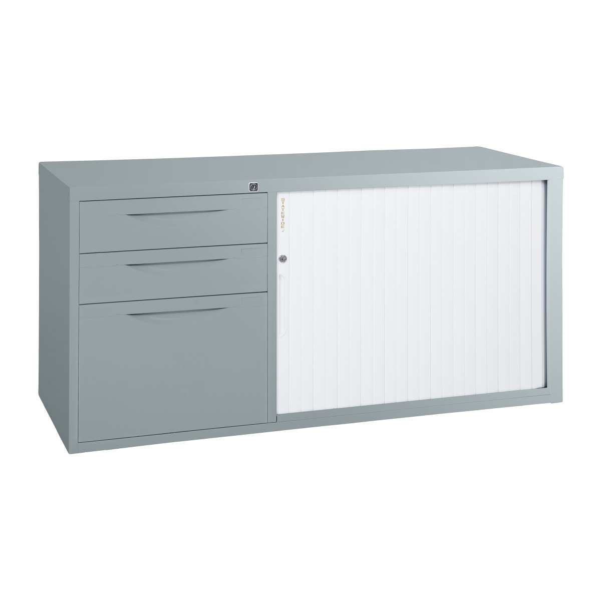 Swcad Statewide Tambour Door Mobile Caddy Light Grey