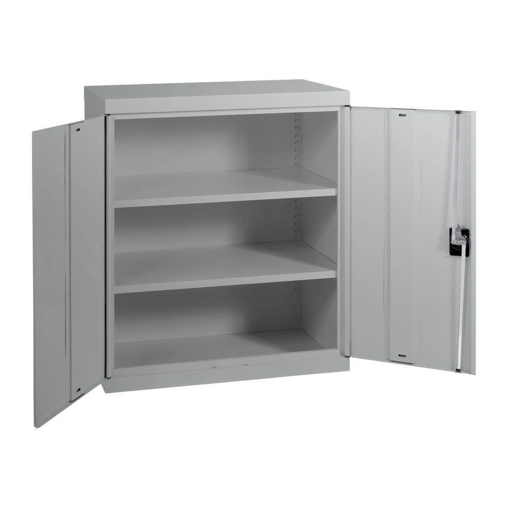 SWEC1020 - Statewide 1020H Economy Stationery Cupboard - Open - Light Grey