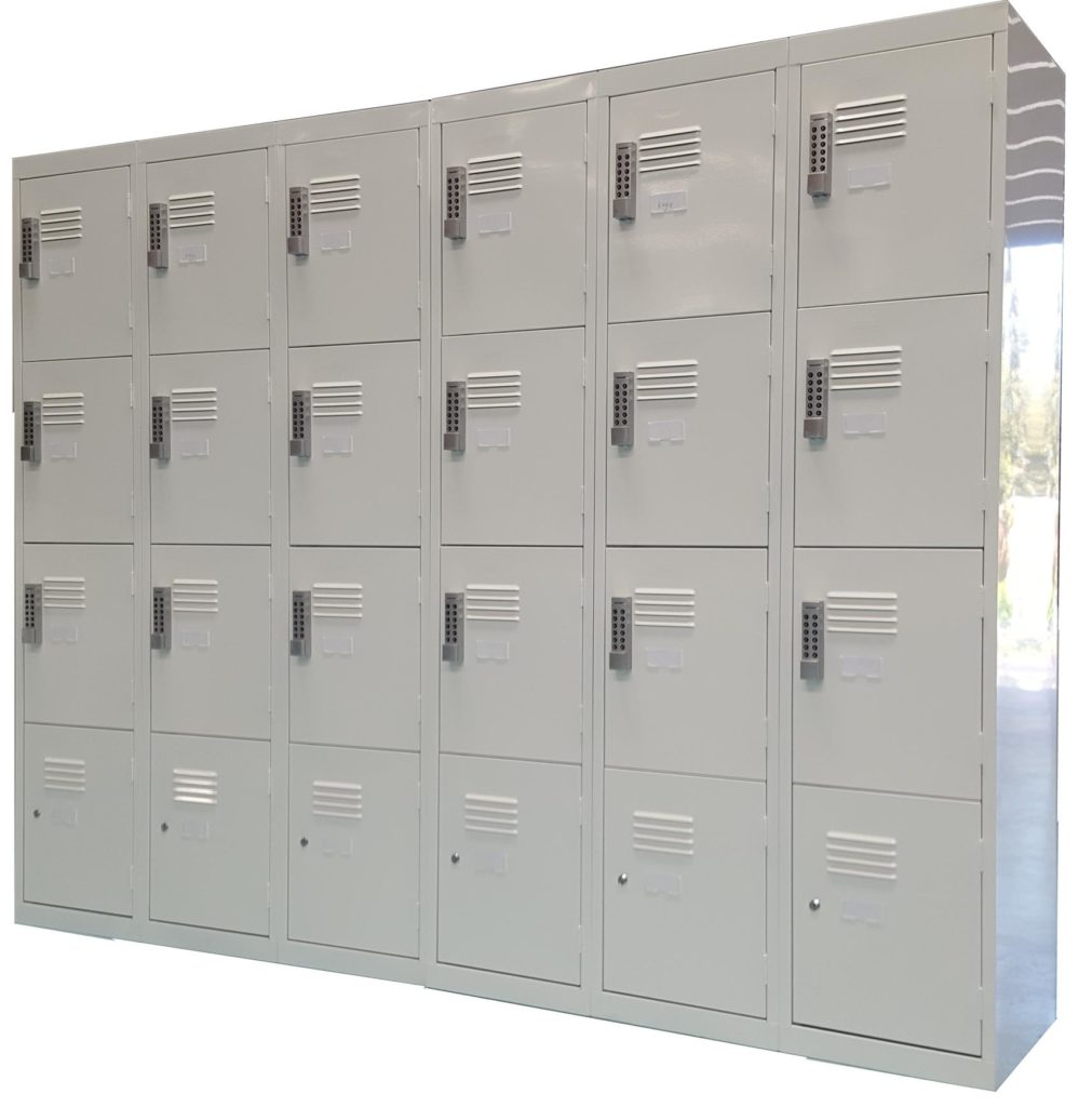 4 Door Custom Lockers - Mixed Digital and Key Locks