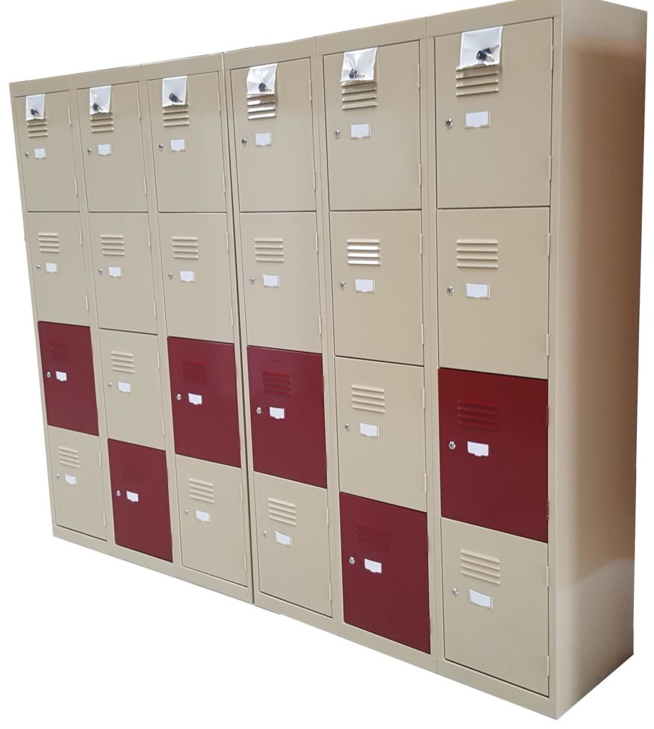 4 Door Lockers - Wild Oats and Burgundy