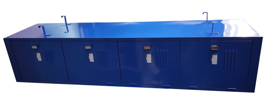 Horizontal Hanging Locker, 4 Door