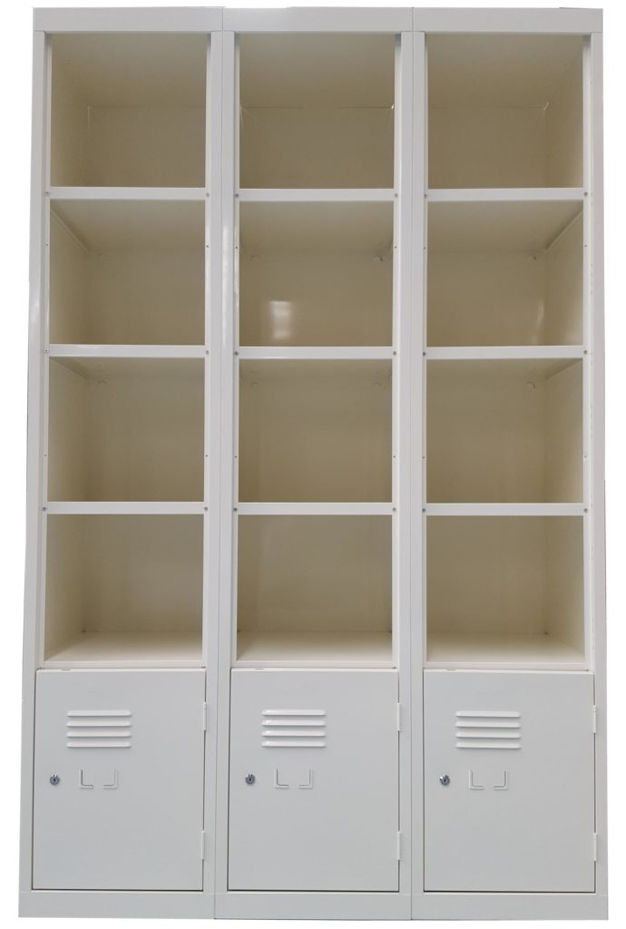 Mixed-Open-Faced-and-Lockable-Door-Locker-Bank-White-Birch