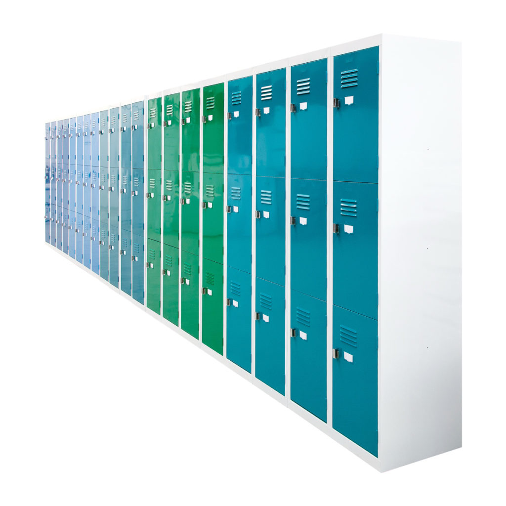 3 Door Lockers in RAL Certified Colours